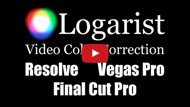 YouTube: Logarist in DaVinci Resolve, Vegas Pro, and Final Cut Pro X